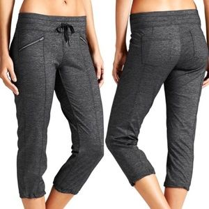 Athleta Dark Grey Metro Slouch Capri Workout Pants